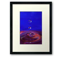 Tri-drop Framed Print