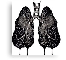 Ink Lungs Canvas Print