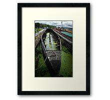Old Barge Framed Print