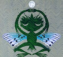 Haunted Solstice Moon Winged Thing by SusanSanford