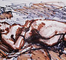 Reclining Nudes by Johnathan Felton by Johnathan Felton