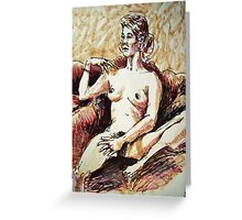 Amy seated 1 Greeting Card