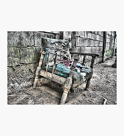 very old chair Photographic Print