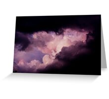 From the Dark into the light.. Glory Greeting Card