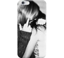 touch her and i'll kill you iPhone Case/Skin