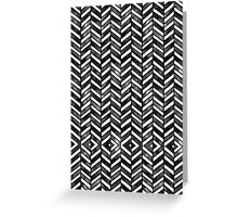 Black and White Chevron Watercolor Pattern Greeting Card