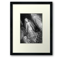 Water Sisters - grayscale Framed Print