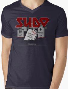 SUDO - Heavy Metal Sysadmin Mens V-Neck T-Shirt
