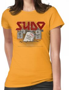 SUDO - Heavy Metal Sysadmin Womens Fitted T-Shirt