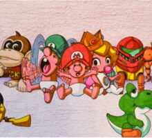 Baby Video Game Character Collage Sticker