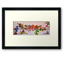 Baby Video Game Character Collage Framed Print