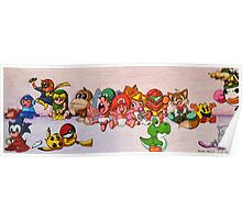 Baby Video Game Character Collage Poster