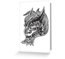 Japanese Oni Head Greeting Card