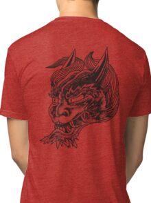 Japanese Oni Head Tri-blend T-Shirt