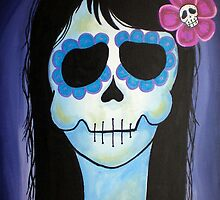 Dia de los Muertos La Blue Verte  by natashablue