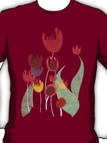 Tulips garden flora surf tropic island paradise pullover sweatshirt T-Shirt