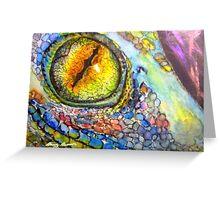 Lizard Eye Greeting Card