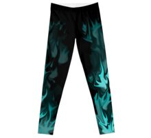Ice Blue Flames Leggings