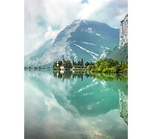 Castle and Lake of Toblino Photographic Print