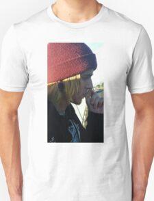 Cute mysterious man on an adventure Unisex T-Shirt