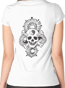 happy hippy skull Women's Fitted Scoop T-Shirt