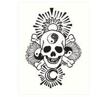 happy hippy skull Art Print