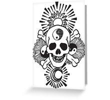 happy hippy skull Greeting Card