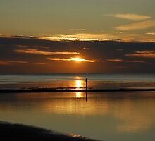 sunset at walpole bay margate by iwasframed