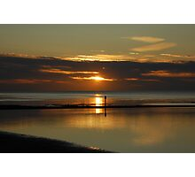 sunset at walpole bay margate Photographic Print