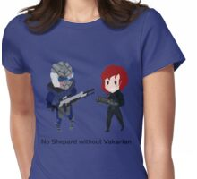 No fem!Shep without Vakarian  Womens Fitted T-Shirt