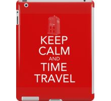 Keep calm and time travel (Doctor who) iPad Case/Skin
