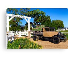 Winery and Old Ford Truck Canvas Print