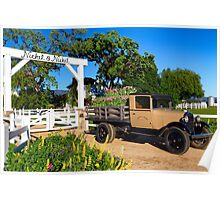 Winery and Old Ford Truck Poster