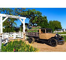 Winery and Old Ford Truck Photographic Print
