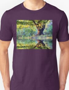 Big Tree Beside Pond Unisex T-Shirt