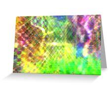 Trippy lazer light explosion  Greeting Card