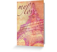 Love Paris Card Greeting Card