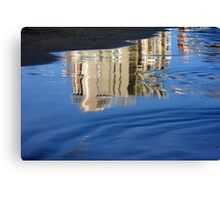 Reflection in the seashore... Canvas Print
