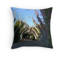 Bouganvilla Walkway Throw Pillow