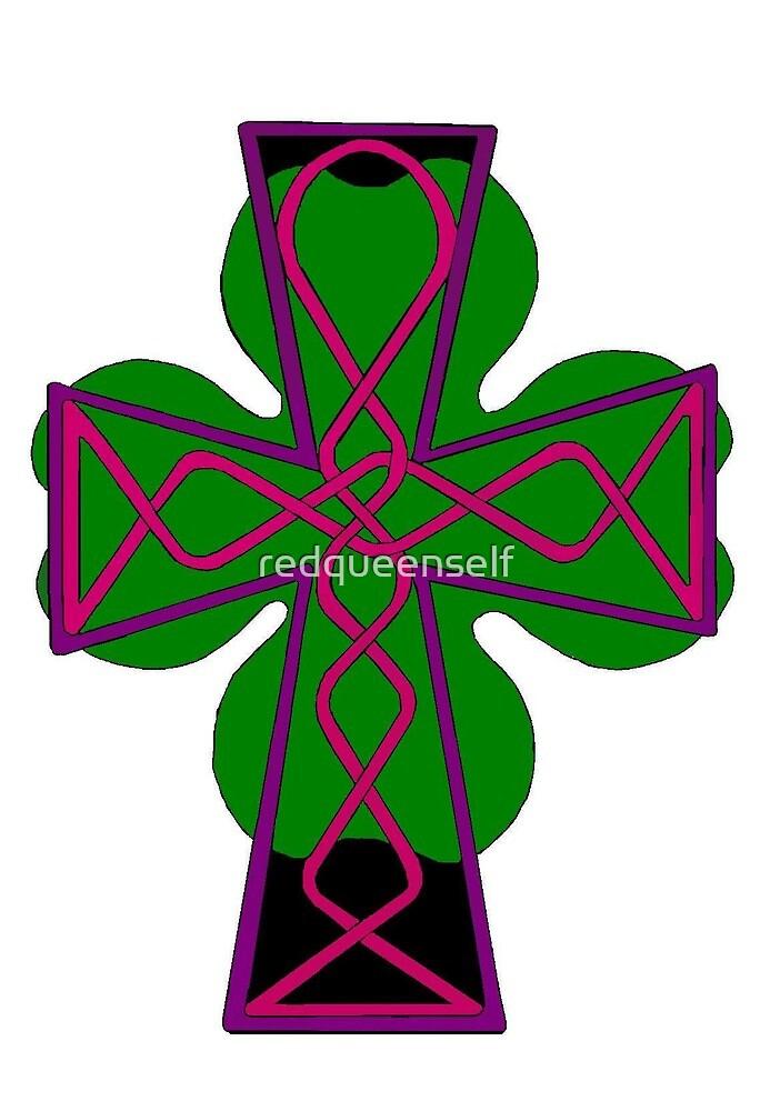 Celtic Cross Lorraine by redqueenself