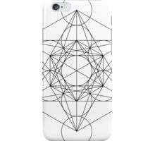 Flower of life - line drawing iPhone Case/Skin