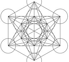 Flower of life - line drawing by Randomthings