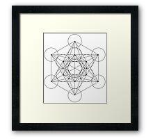 Flower of life - line drawing Framed Print
