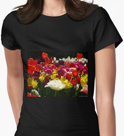 Tulip fantasy Womens Fitted T-Shirt