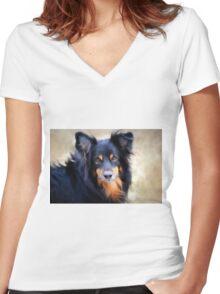 Sweetness Women's Fitted V-Neck T-Shirt