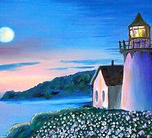 Hecta Lighthouse at Dusk by kellimays
