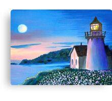 Hecta Lighthouse at Dusk Canvas Print