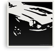 Datsun 240Z Detail - Black on white Canvas Print