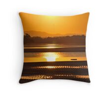 Sunset at Nudgee Throw Pillow