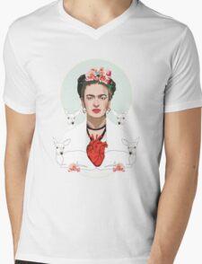 Frida (Light) Mens V-Neck T-Shirt